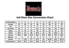 Women's Demonia Swing-220 Platform Calf Boot Black Patent Goth Punk Buckles