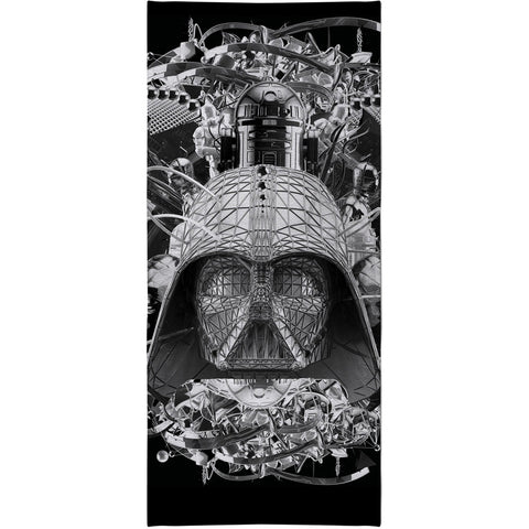 Digital Empire Beach Towel Black/White