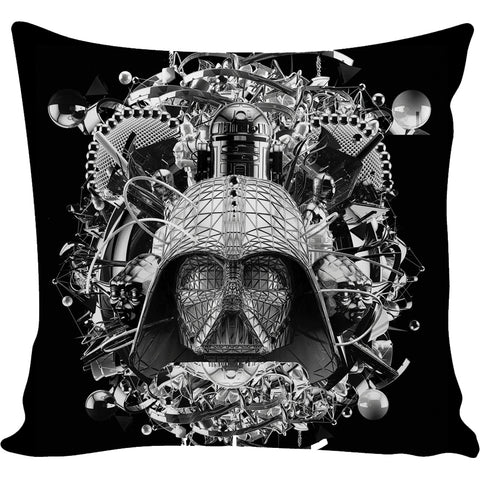 Digital Empire Black/White Pillow