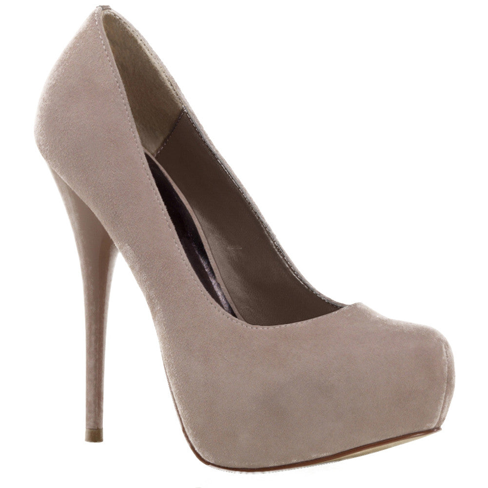 Fabulicious GORGEOUS-20 Hidden Platform Suede Pump Blush  Sexy Shoes Heels