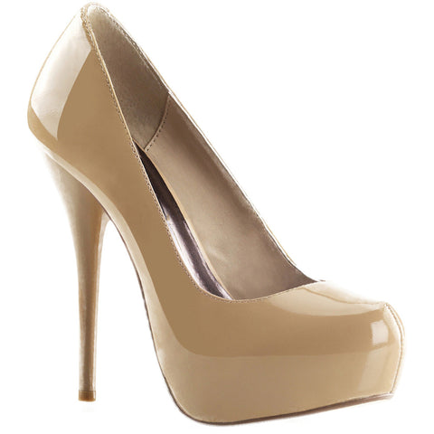 Fabulicious GORGEOUS-20 Platform Pump Blush Patent Leather Sexy Shoes Heels
