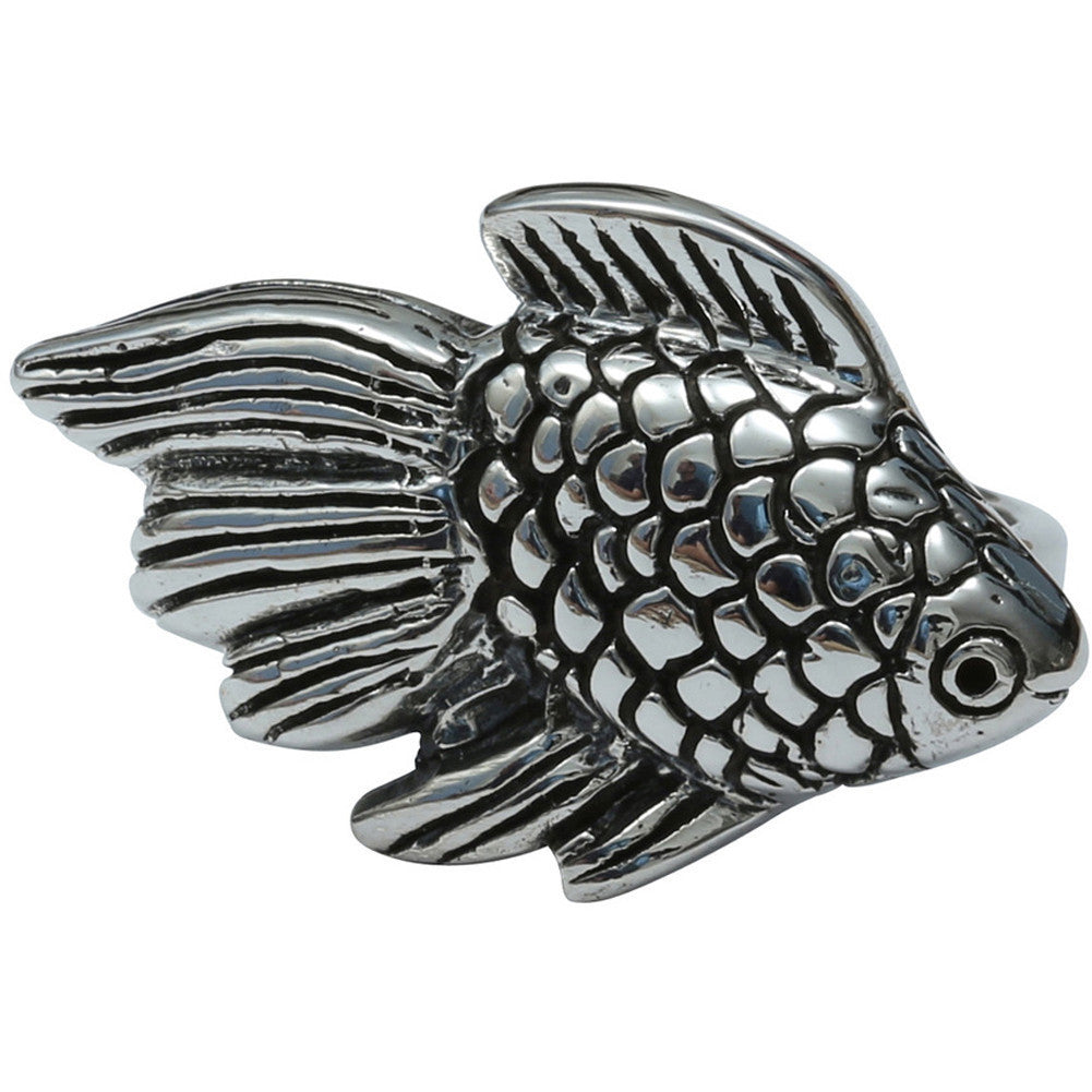 Femme Metale .925 Sterling Silver Betta Boy Ring Fish