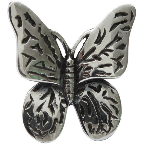 Femme Metale .925 Sterling Silver Big Butterfly Ring