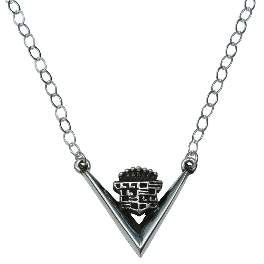 Femme Metale .925 Sterling Silver Caddy Logo Necklace Classic Cadillac