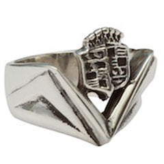 Femme Metale .925 Sterling Silver Cadillac Ring Hot Rod Classic