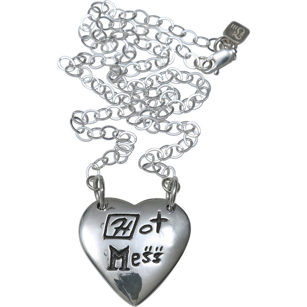 Femme Metale .925 Sterling Silver Hot Mess Necklace Heart