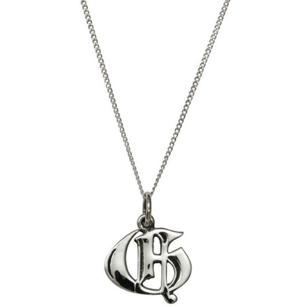 Femme Metale .925 Sterling Silver Love Letter G Charm Necklace