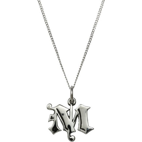 Femme Metale .925 Sterling Silver Love Letter M Charm Necklace