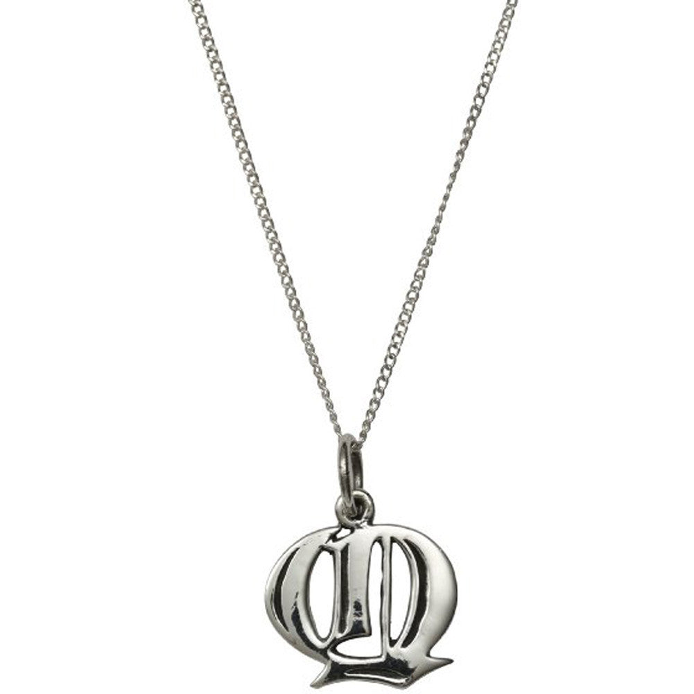 Femme Metale .925 Sterling Silver Love Letter Q Charm Necklace