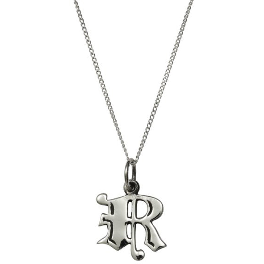 Femme Metale .925 Sterling Silver Love Letter R Charm Necklace