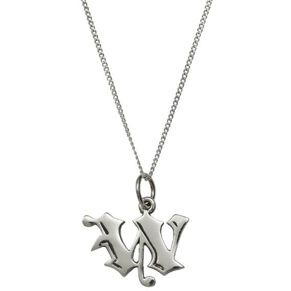 femme metale 925 sterling silver love letter w charm necklace