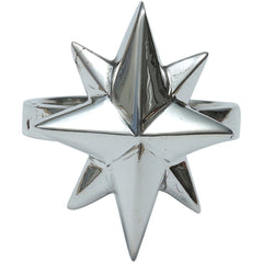 Femme Metale .925 Sterling Silver North Star Ring