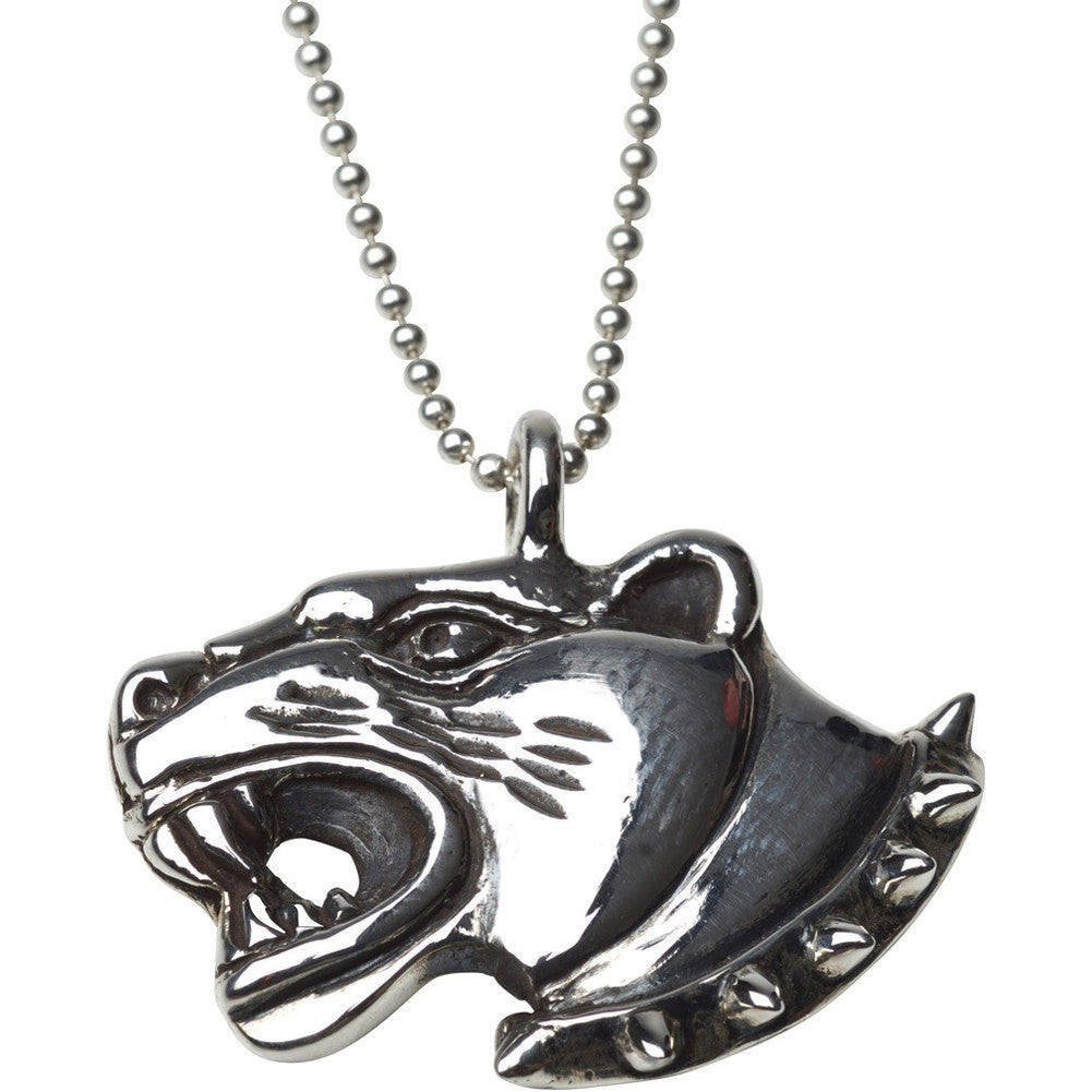 Femme Metale .925 Sterling Silver Punk Puma Pendant Necklace Panther