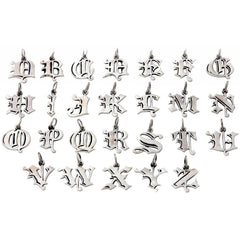 Femme Metale .925 Sterling Silver Love Letter E Charm Necklace