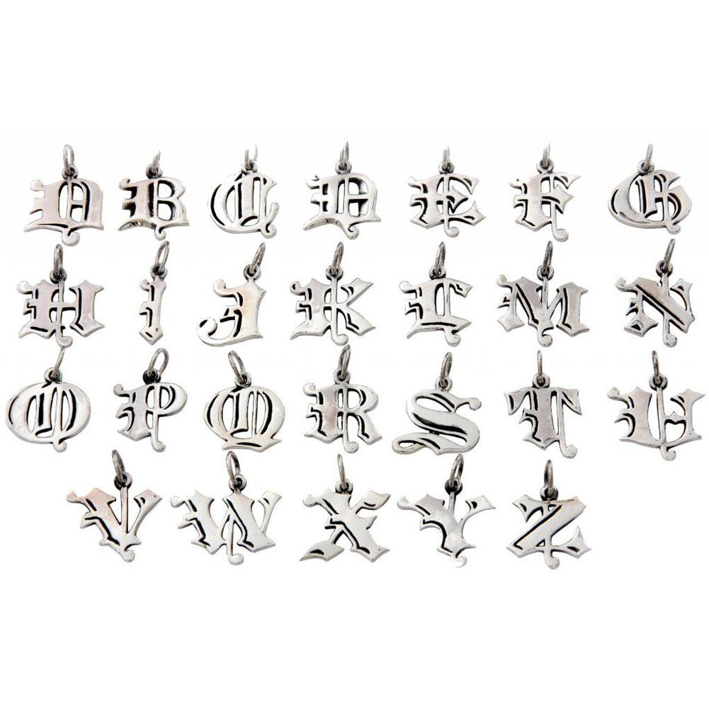 Femme Metale .925 Sterling Silver Love Letter P Charm Necklace