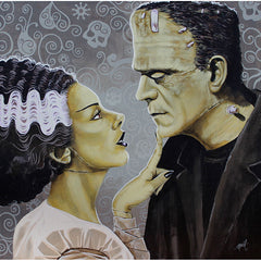 Flirtationship by Mike Bell Bride Frankenstein Monster Canvas Giclee
