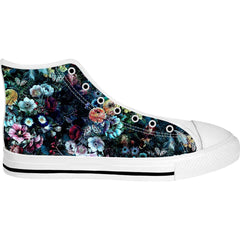 Unisex Floral I High Top Canvas Shoes