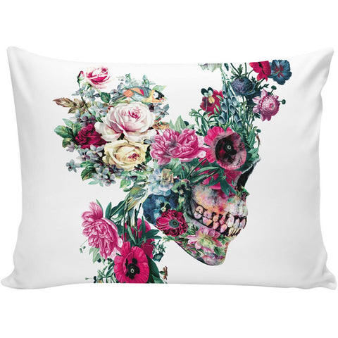 Floral Skull VIII Pillow Case