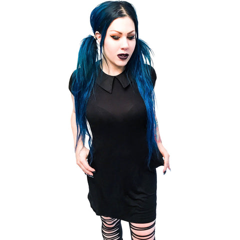 Folter Back to Black Dress Goth Punk Alternative Nugoth