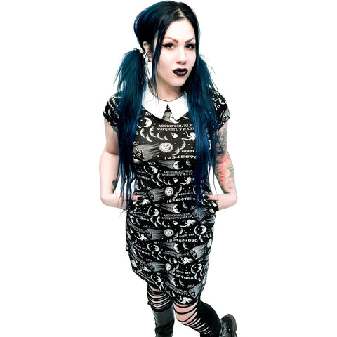 Folter Ouija Addams Dress Goth Occult Nugoth Wednesday
