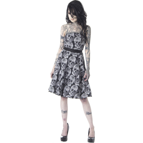 Folter Witchcraft Strapless Dress Black