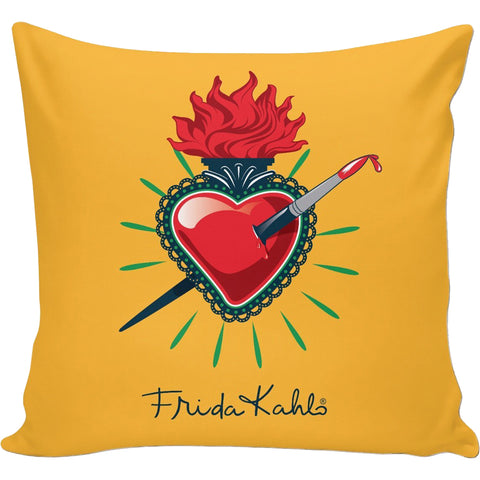 Frida Kahlo Pierced Sacred Heart Pillow