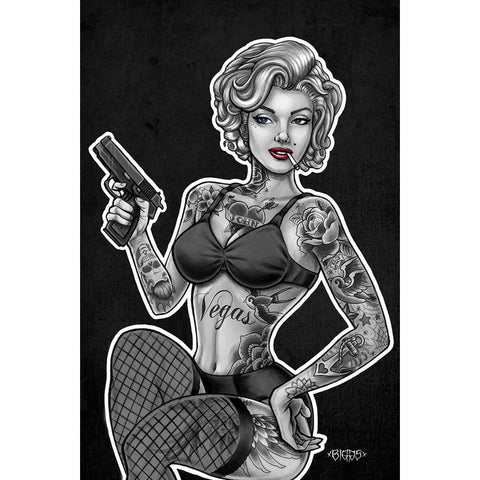 Get down art inked and armed poster