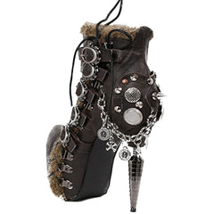 Hades Adler High Heel Bootie Black Punk Steampunk Steam Alternative Victorian