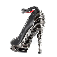 Hades Zephyr High Heel Black Punk Rock Metal Spine Goth