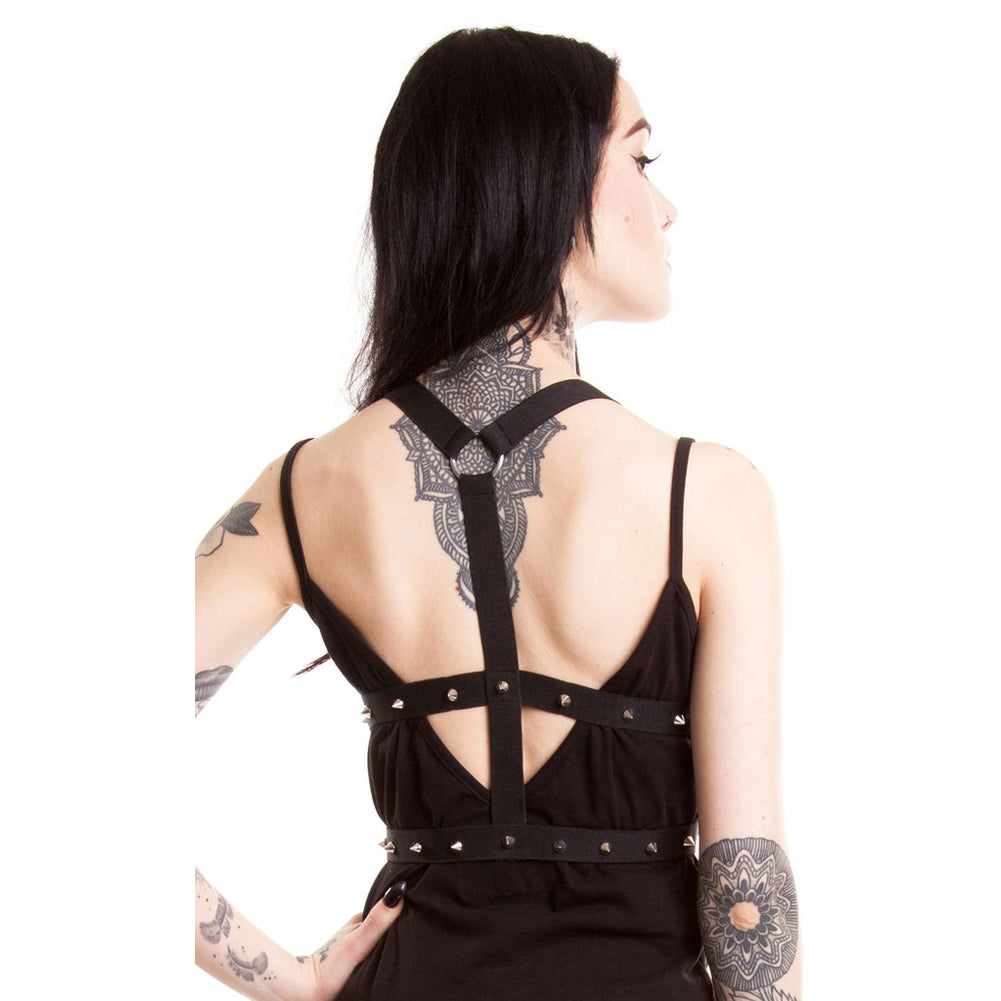 Heartless Spiked Harness Bra Cage Top Goth Nugoth Punk