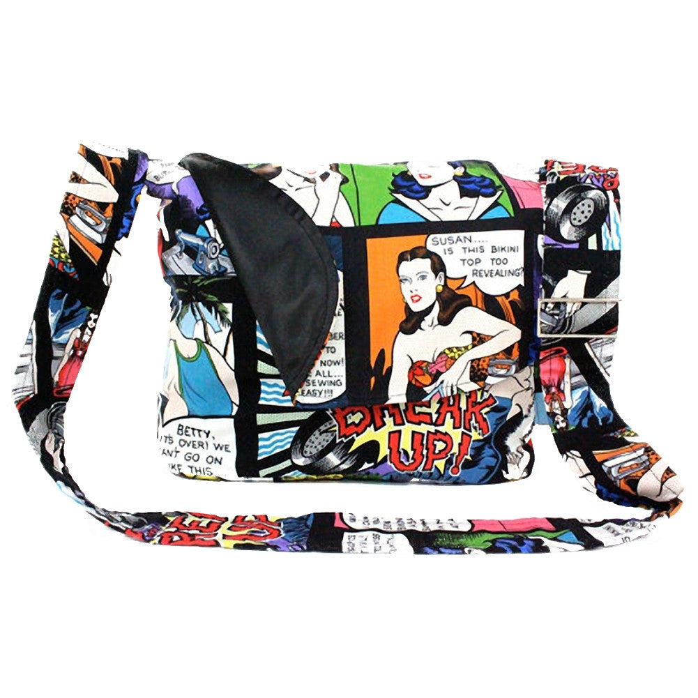 Hemet Comic Messenger Bag Retro Vintage Comic Book Inspired