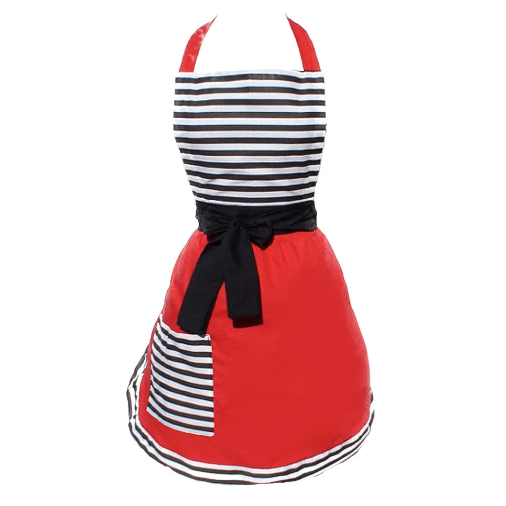 Hemet French Stripe Deluxe Full Apron Retro Vintage Inspired Rockabilly