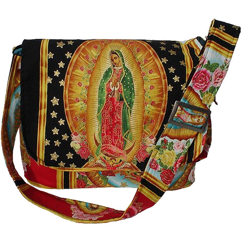 Hemet Guadalupe Virgin Mexican Messenger Bag IV Mary Latina Art