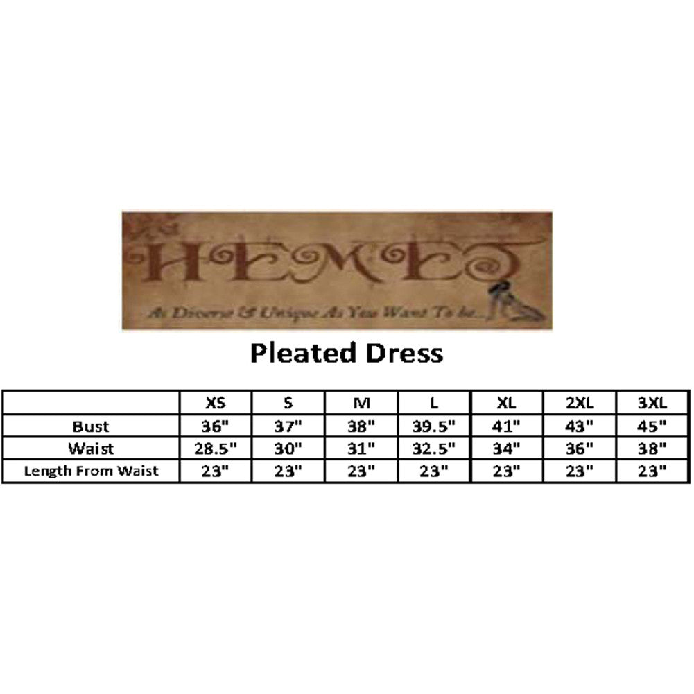 Women's Hemet Popart Pleated Dress Food Snacks Treats Retro Diner Inspired