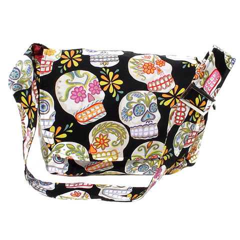 Hemet Sugar Skulls Messenger Bag Mexican Day of the Dead Tattoo Latina