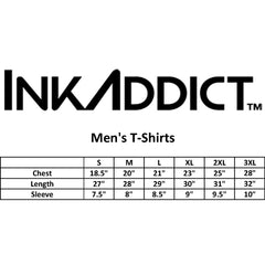 Men's InkAddict INK T-Shirt Black/White Tattoo Tattooed Inked