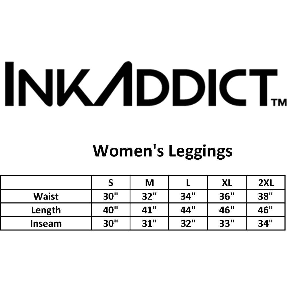 Women's InkAddict Tia II Leggings Black/White Tattoo Tattooed Inked