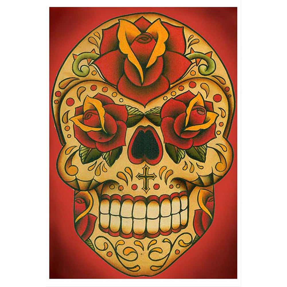 Inphamus Dia Fine Art Print by Lil Chris Day of the Dead Sugar Skull
