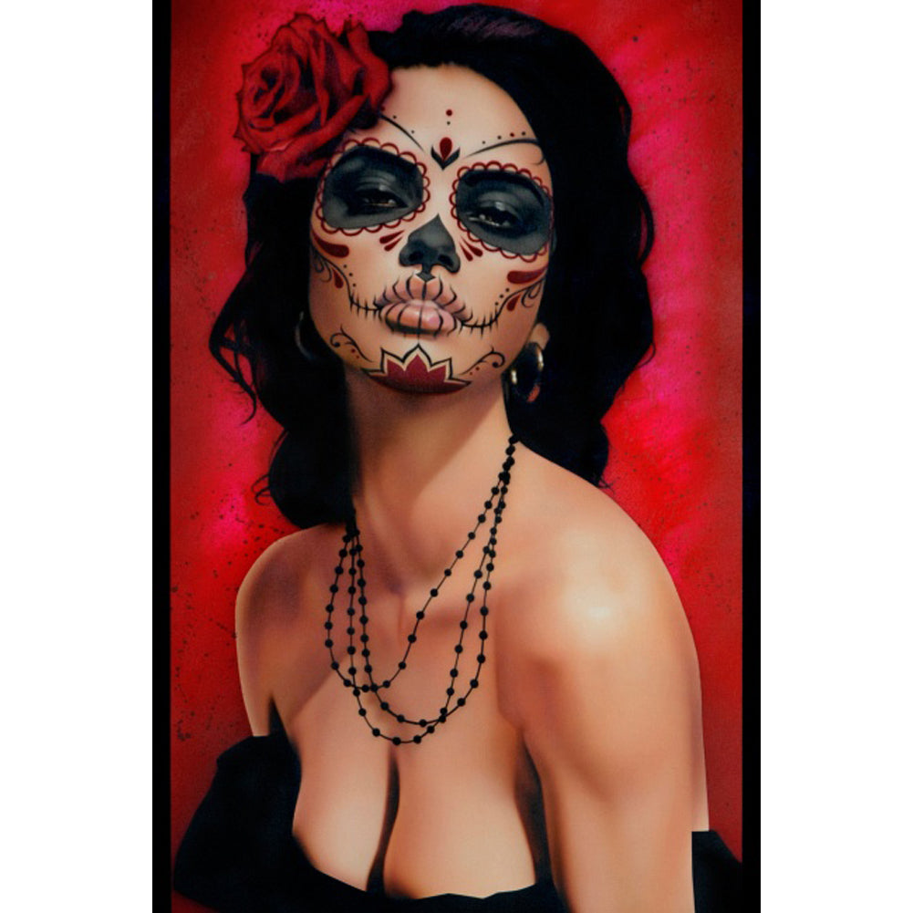 Isabella Muerta Fine Art Print by Daniel Esparza Day of the Dead Girl Pinup