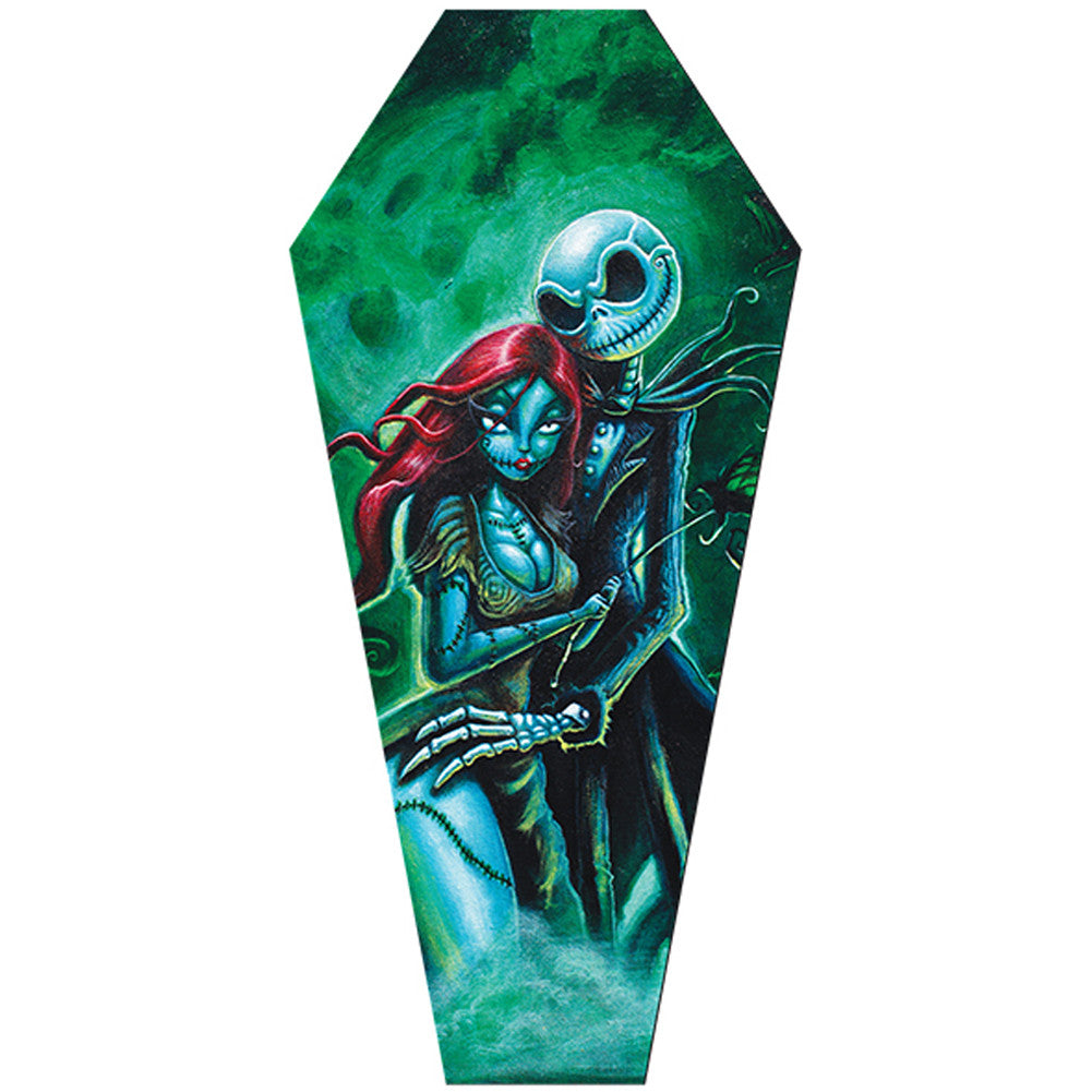 Jack & Sally Coffin Canvas Giclee by Joey Rotten Nightmare Lovers