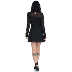 Jawbreaker Black Hearted Veins Skater Dress Black