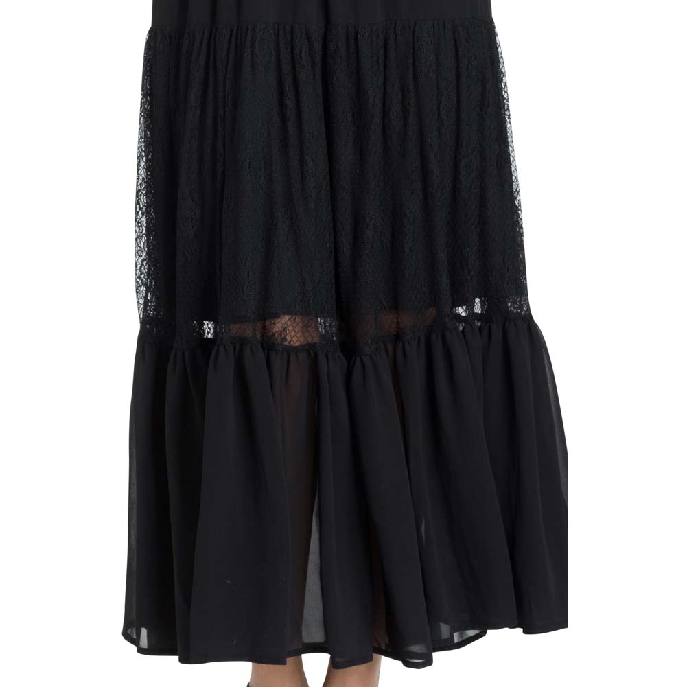 Jawbreaker Formal Lace Maxi Dress Black