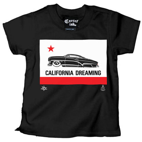 Kids Cartel Ink California Dreaming T Shirt Black Lead Slead Kustom Kulture