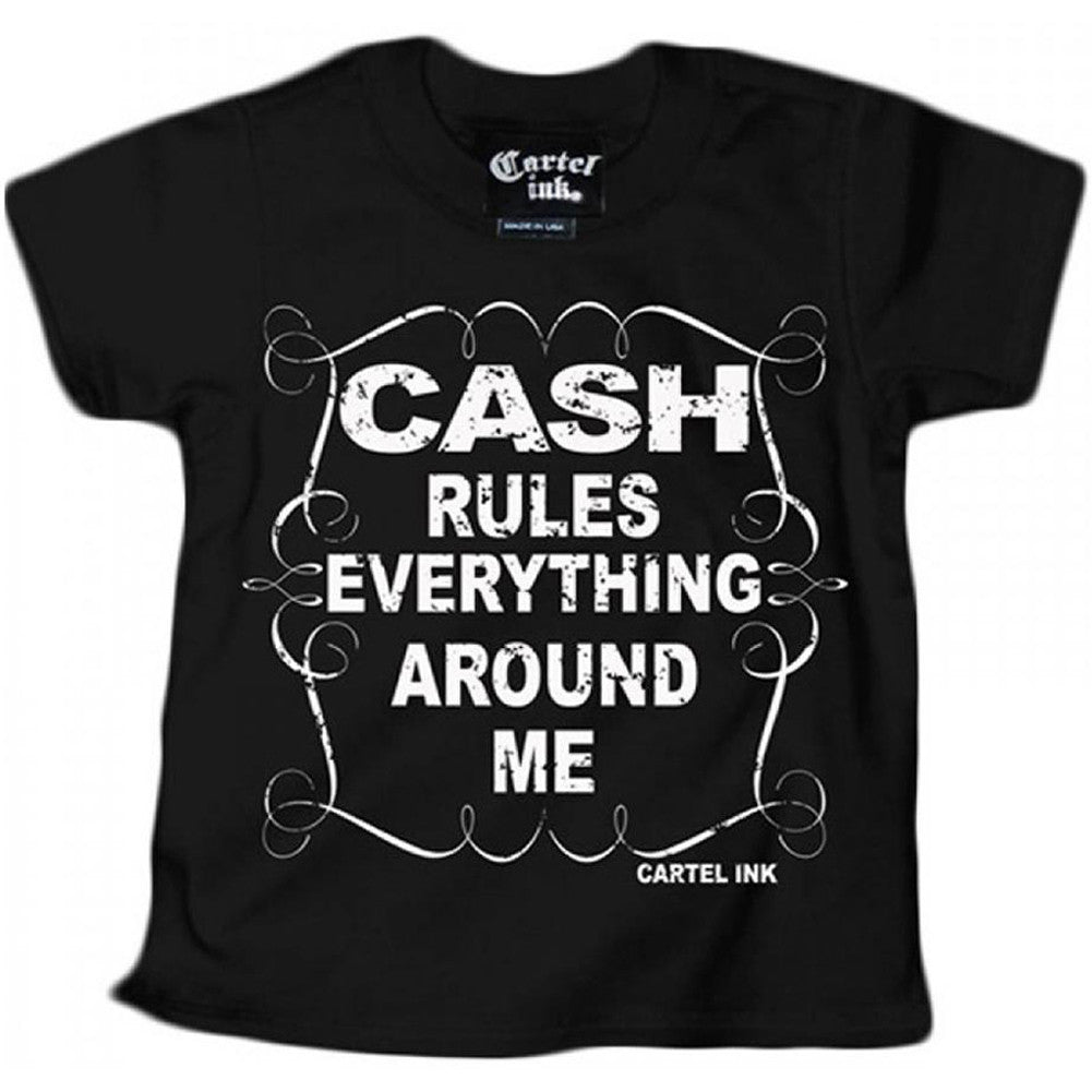 Kid's Cartel Ink Cash Rules Everything T-Shirt Black Hip Hip