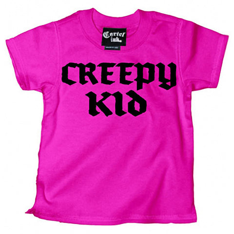Kid's Cartel Ink Creepy Kid T-Shirt Pink Baby Toddler