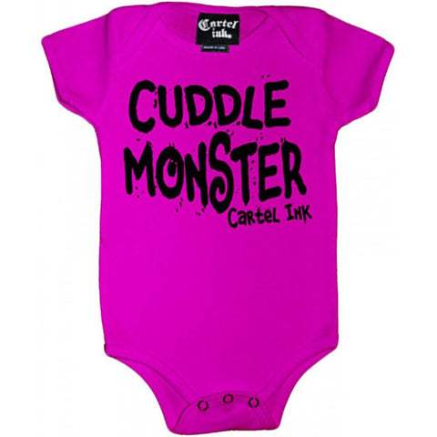 Kid's Cartel Ink Cuddle Monster One Piece Pink