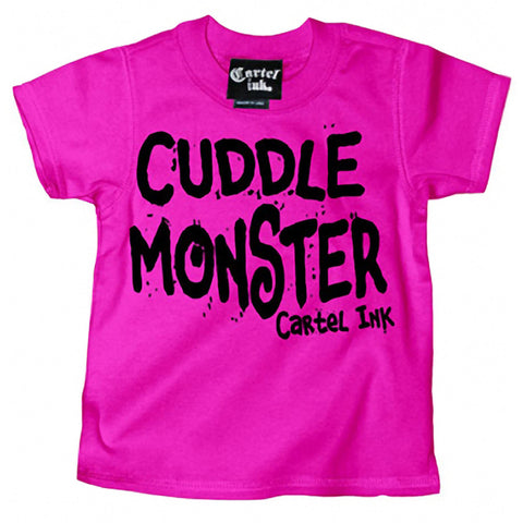 Kid's Cartel Ink Cuddle Monster T-Shirt Pink Baby Toddler