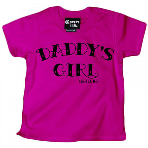 Kid's Cartel Ink Daddy's Girl T-Shirt Pink Baby Toddler
