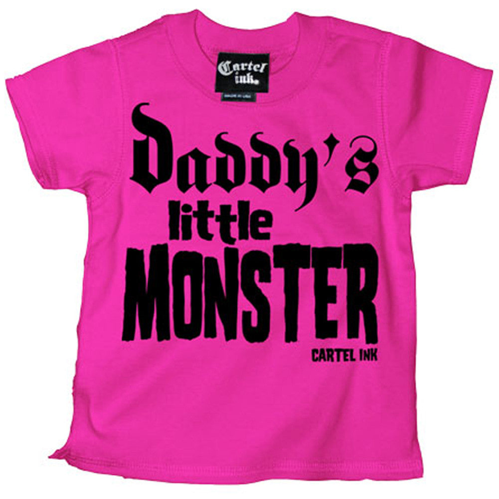 Kid's Cartel Ink Daddy's Little Monster T-Shirt Pink Punk Alternative