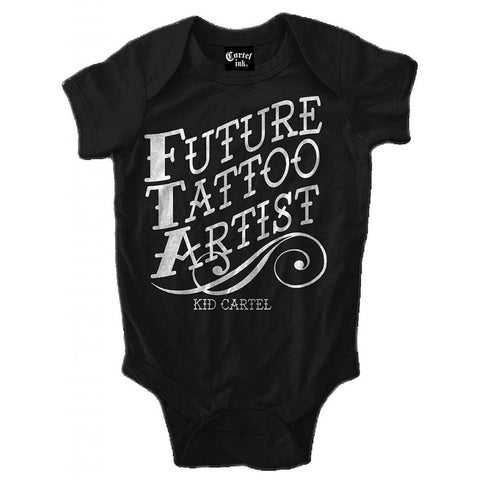 Kids Cartel Ink Future Tattoo Artist Infant One Piece Baby Black Inked Lifestyle